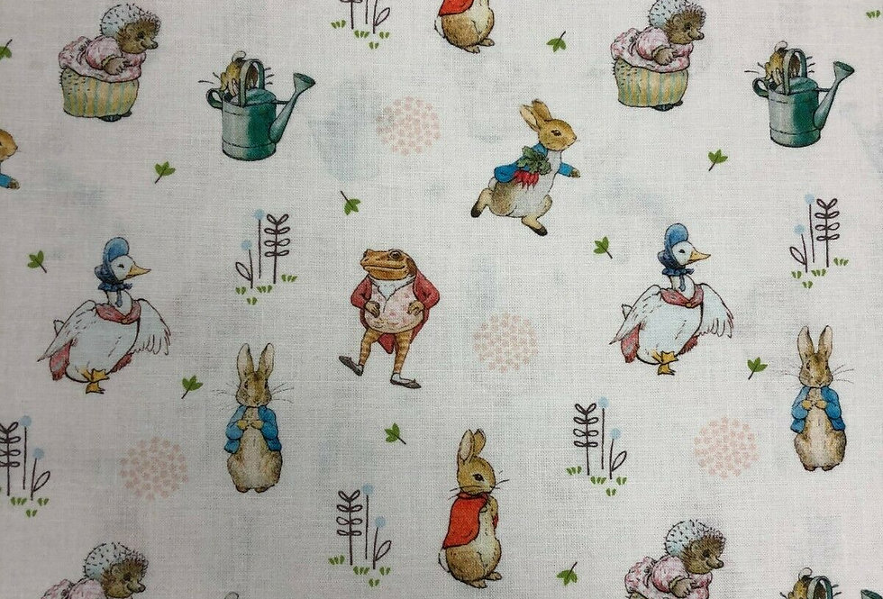 Peter Rabbit Characters - Peter Rabbit Collection - 100% Craft Cotton