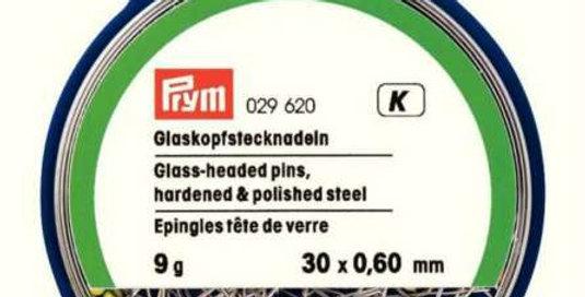 Prym Dressmaking Glass Headed Pins #029620