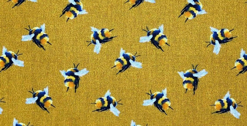 Bumblebees Digital 100% Craft Cotton Print
