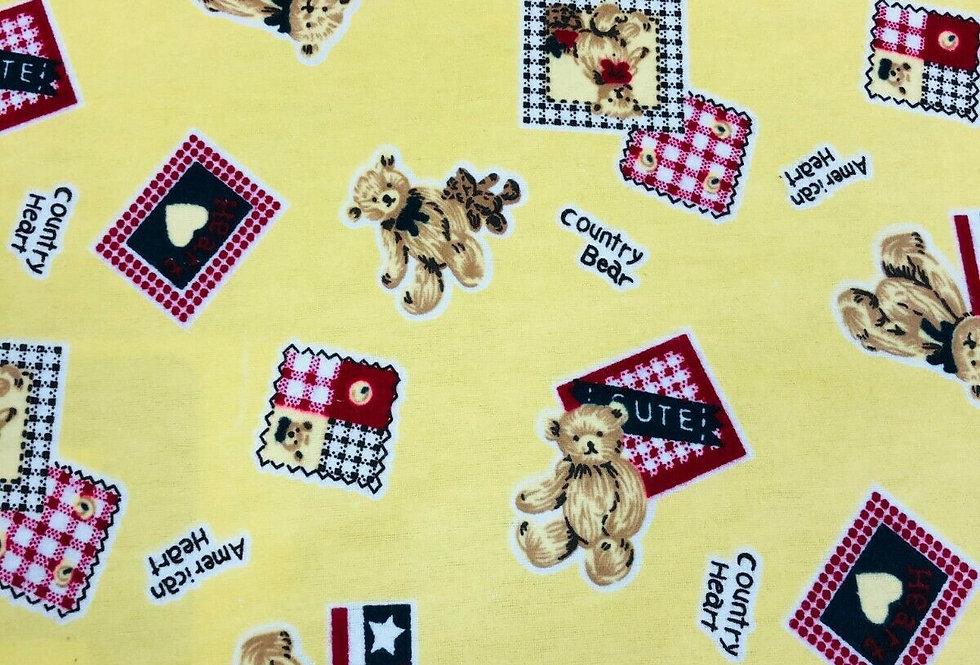 Country Bear - Brushed Cotton Fabric