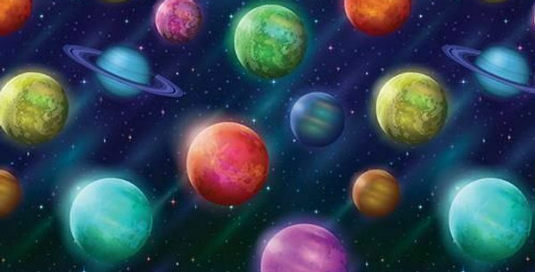 Planets - Digitally Printed 100% Craft Cotton