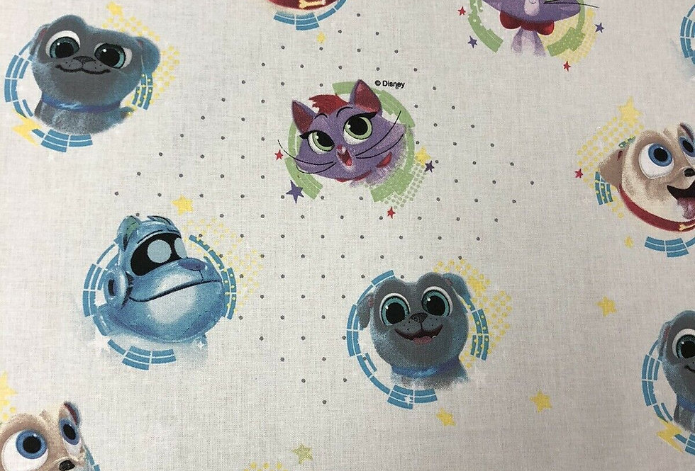 Puppy Dog Pals Disney 100% Craft Cotton