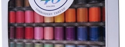 Brother Machine Embroidery Threads 40 x 300m