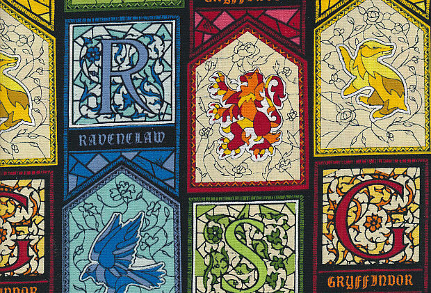 Harry Potter - Houses Stained Glass - 100% Craft Cotton