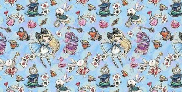 Alice - Alice in Wonderland - Digitally Printed 100% Craft Cotton