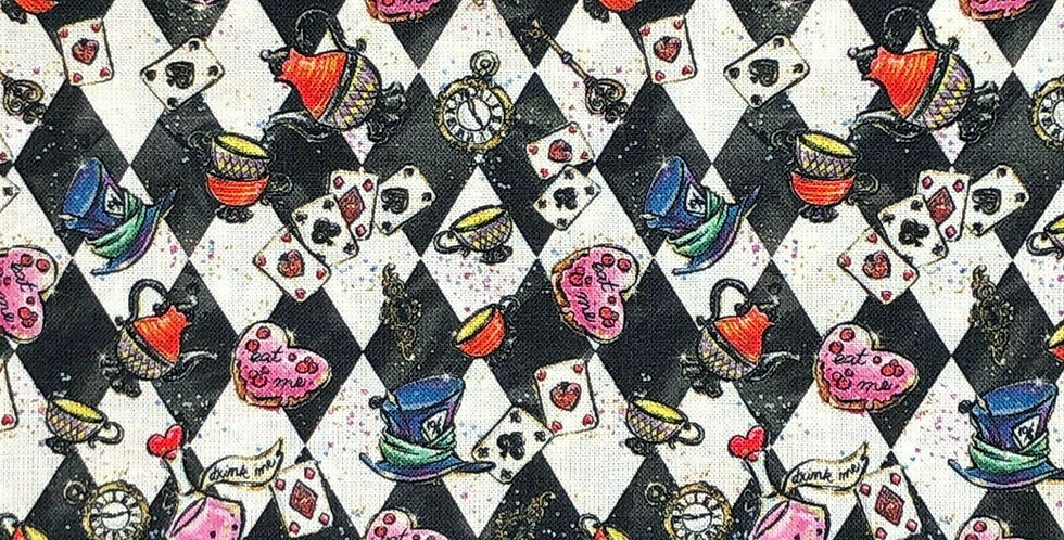 Tea Party - Alice in Wonderland - Digitally Printed 100% Craft Cotton