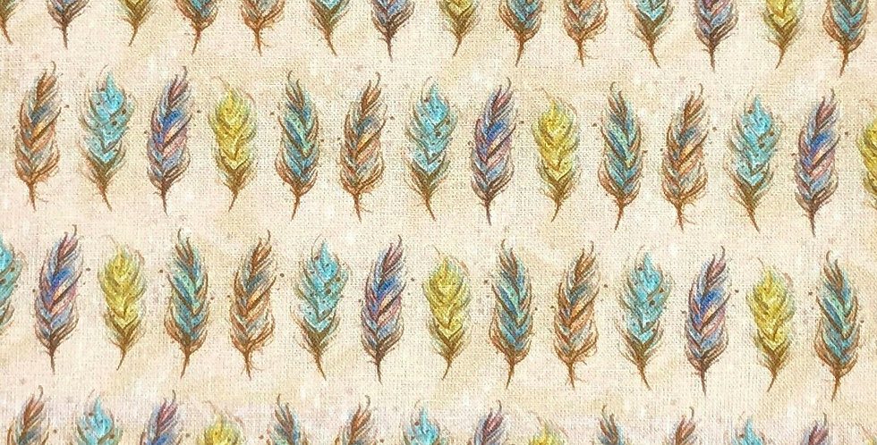 Feathers Natural - Digitally Printed 100% Craft Cotton