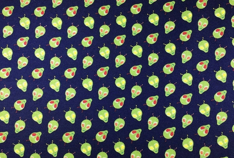 Space - Aliens- 100% Craft Cotton