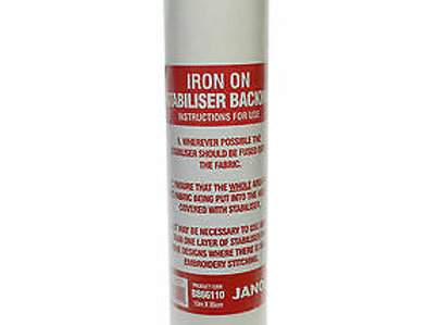 Janome Iron On Fusible Embroidery Stabilzer 10M x 35cm
