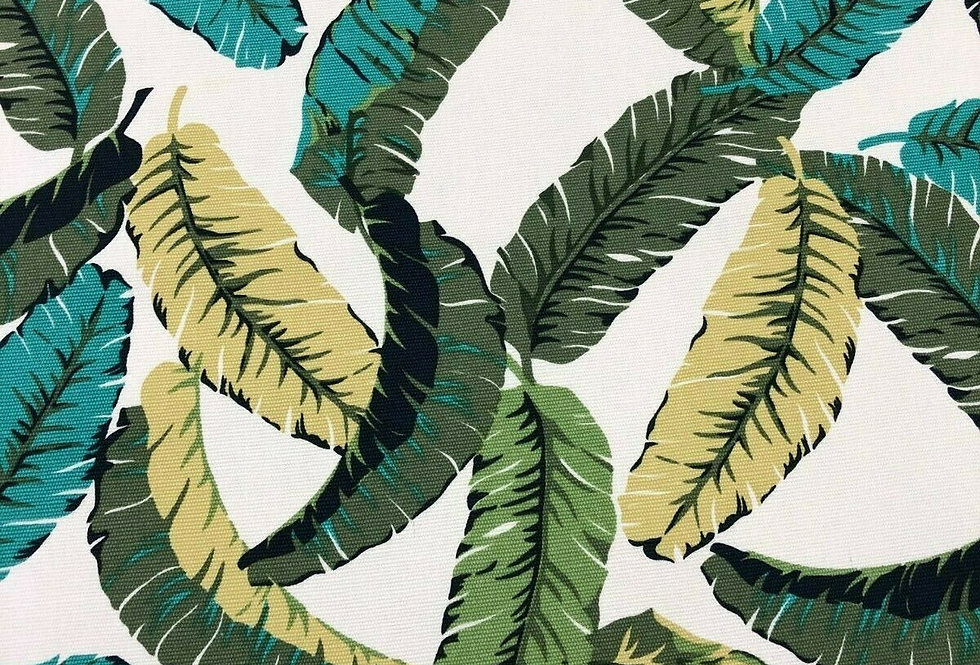 Banana Leaves Cotton Canvas Fabric