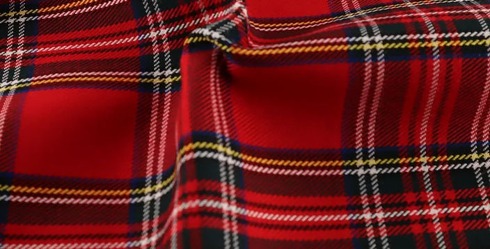 Royal Stewart - Tartan Polyester Dress Fabric