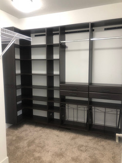 custom made closet shelves