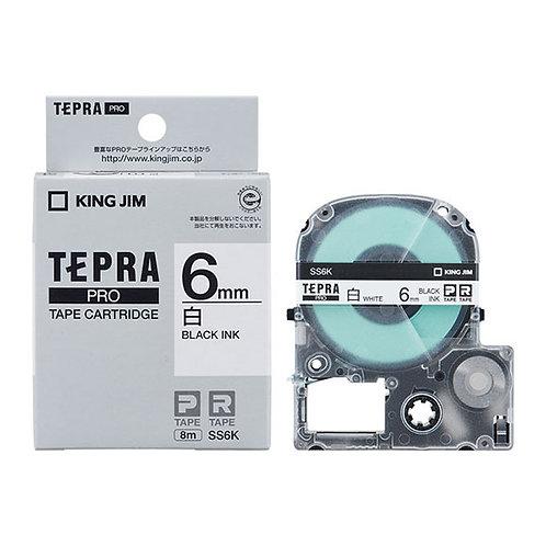 テプラテープ PRO 白ラベル 6mm SS6K