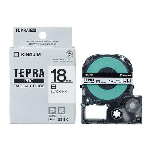 テプラテープ PRO 白ラベル 18mm SS18K