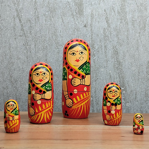 Women Nesting Doll -  Set of 5