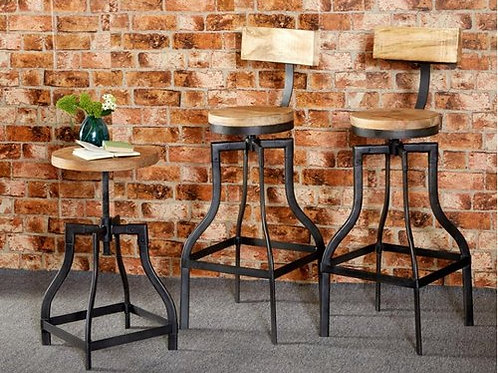 RUCHE STOOL& CHAIR SET