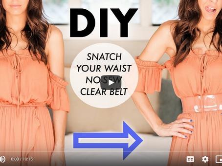 Snatch Your Waist - DIY CLEAR Fashion Belt By Orly Shani.