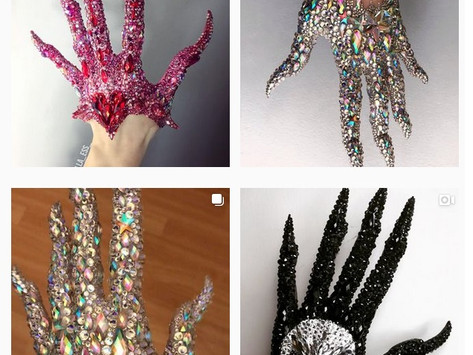 SFX Hand Art With Nothing but Crystals!