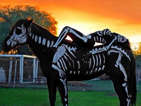 Jailyne Ojeda 'Day of the Dead' Skeleton Body Paint.