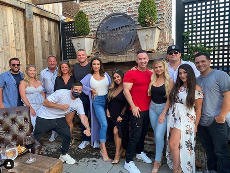 The Cast Of 'Jersey Shore' Shades Angelina During Mike Sorrentino's Party.
