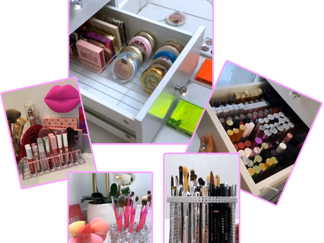 Affordable DIY Makeup Organizer and Beauty Hacks by Lou Flores.