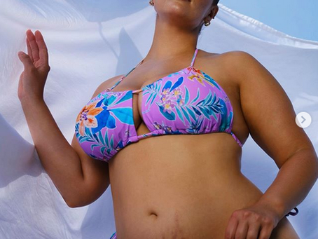Ashley Graham Flaunts Postpartum Stretch Marks in New Swimsuit Campaign.