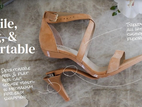 Pashion Footwear - World's First Fully Convertible Heel.