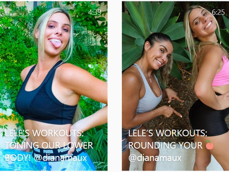 Lele Pon's Home Workout Videos with Lifestyle Fitness Coach DIANA MAUX.
