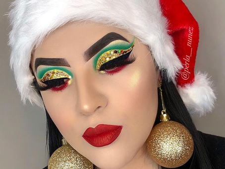Christmas Makeup Looks By Perla Nunez.