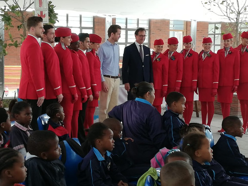 iThemba Primary Spreads its Wings with Austrian Airlines