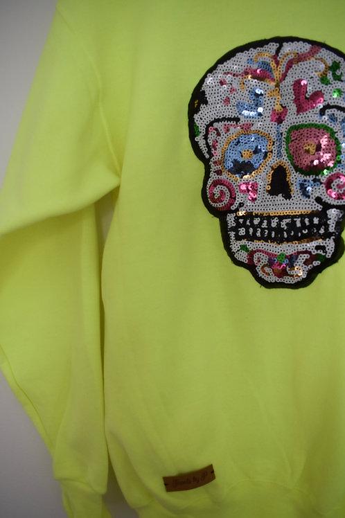 Neon Skull Sweatshirt