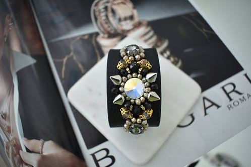 Black Cuff Bracelet