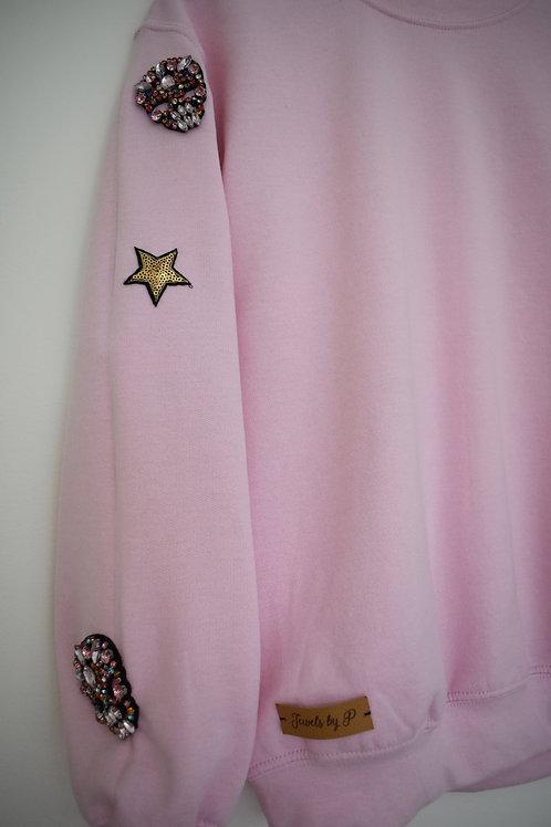 Pink Beaded Sweatshirt