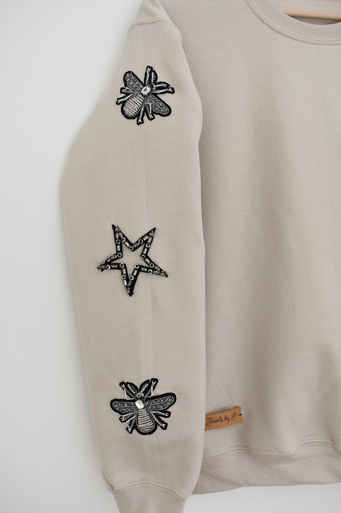 Sand Beaded Sweatshirt