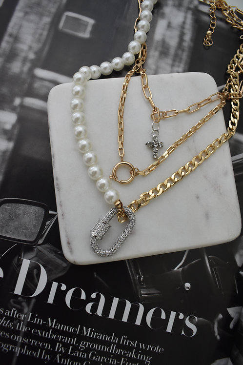 Triple Stacking Necklace