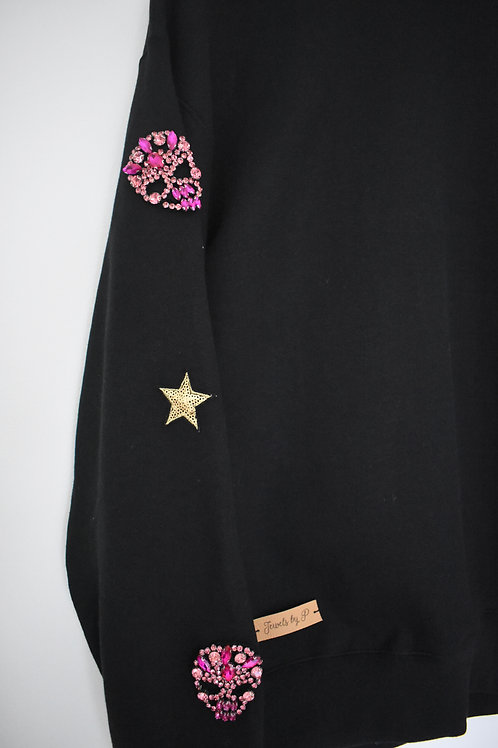 Oversize Black Skull Sweatshirt