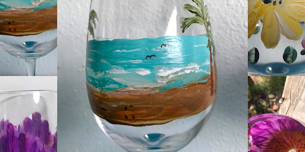 Artistic Wine Glasses at Silvan Ridge Winery