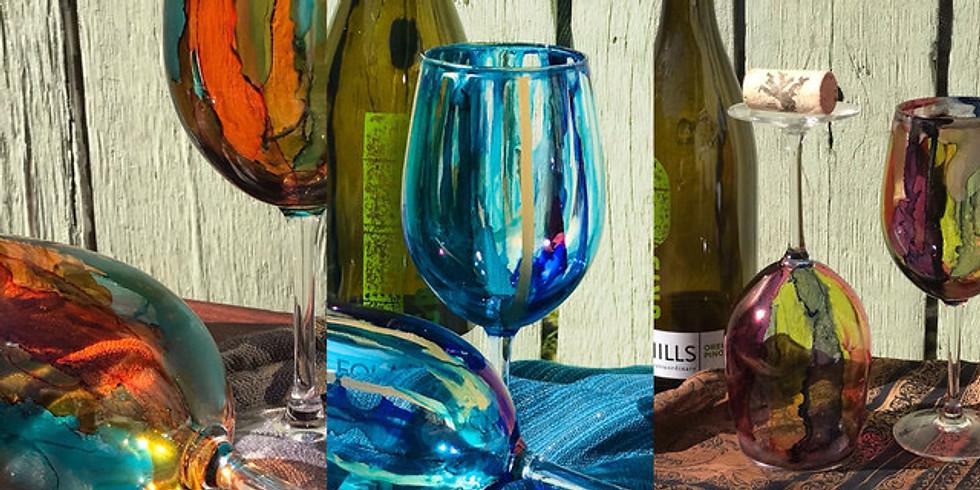 Color on Wine Glass ArtShop