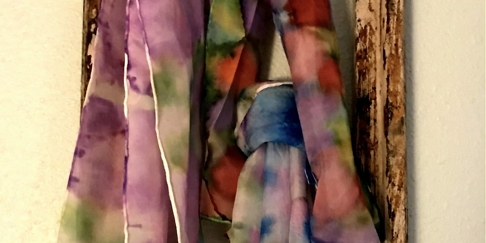 One of a kind Silk Scarves .
