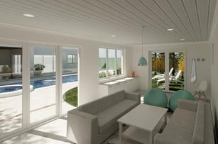 Pool House Interior Render