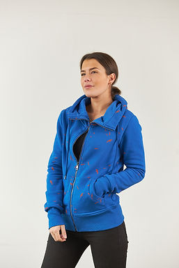 "Sweatjacke ""Emmy"" in Blau"