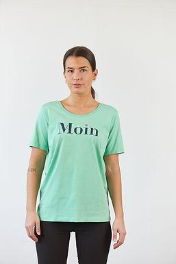 """T-Shirt """"Moin"""" in Grün"""