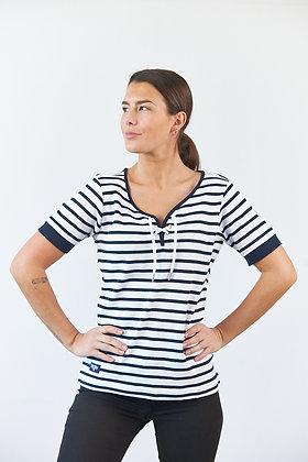 """T-Shirt """"Celeste"""" in Weiß/Navy"""