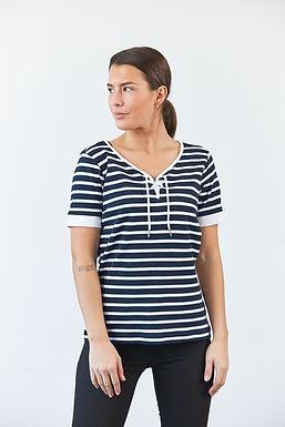 """T-Shirt """"Celeste"""" in Navy/Weiß"""