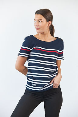 """T-Shirt """"Candice"""" in Navy-Rot"""