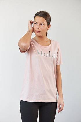 "T-Shirt ""Moin"" in Rosa"