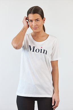 "T-Shirt ""Moin"" in Weiß"