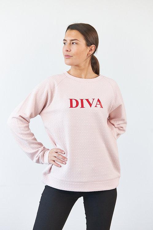 """Aria Damen Sweatshirt """"Diva"""" in Rosa"""