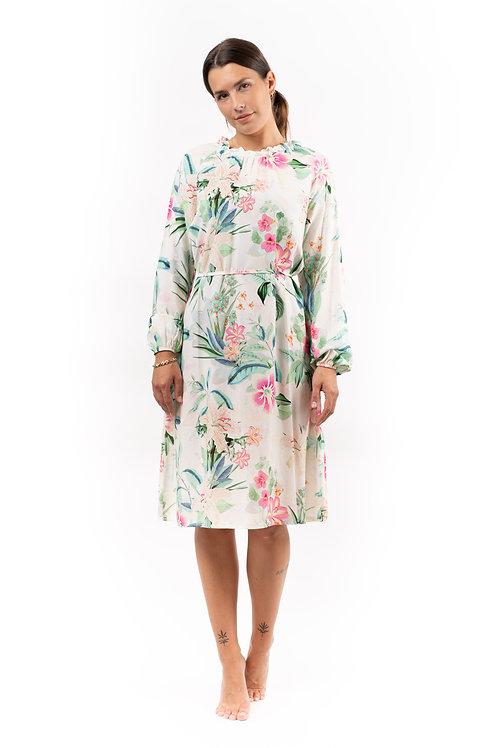 """Kleid mit Blätterdruck """"19206"""""""