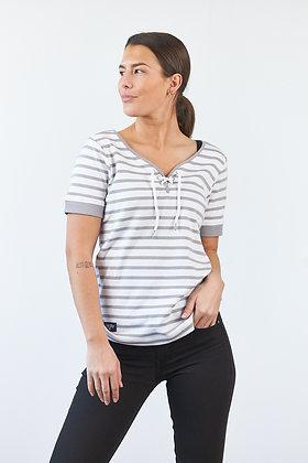 "T-Shirt ""Celeste"" in Weiß/Grau"